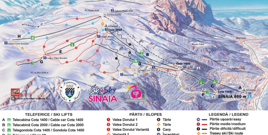 Partii de schi Sinaia - Hotel Carpathia Sinaia